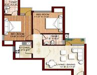 2 BHK - 875 sq.ft.