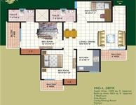 2 BHK Type-B Floor Plan