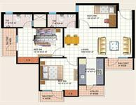 2 BHK Type-C Floor Plan