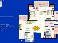 2 BHK Type-D Floor Plan