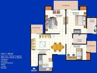 3 BHK Type-A Floor Plan