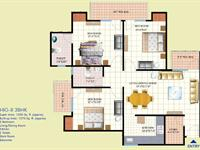 3 BHK Type-B Floor Plan