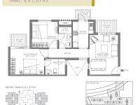 990 sq. feet (2 Bedroom, 2 Bathroom)
