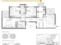 1280 sq. feet (3 Bedroom, 2 Bathroom)