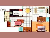 2BHK Floor Plan