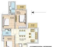 3BHK(1225sq. ft.)