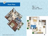 1 BHK - 625 Sq. Ft.