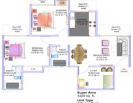 2BR+Study Floor Plan