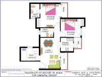 2 BR+Study Floor Plan