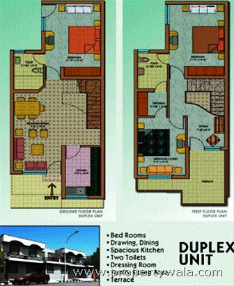 Image elevations of duplex units joy studio design for Duplex units