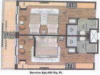 1BHK - 480 Sq. Ft.