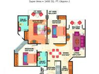 1400 sq. ft. Floor Plan