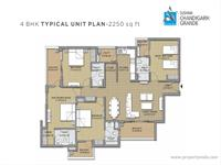 4 BHK Typical Plan