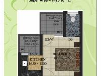 425 sq.ft. Floor Plan