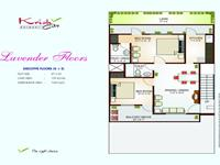 Levender Floor Plan 1050 Sq Ft