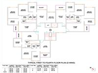 Typical First to Fourth Floor Plan D Wing