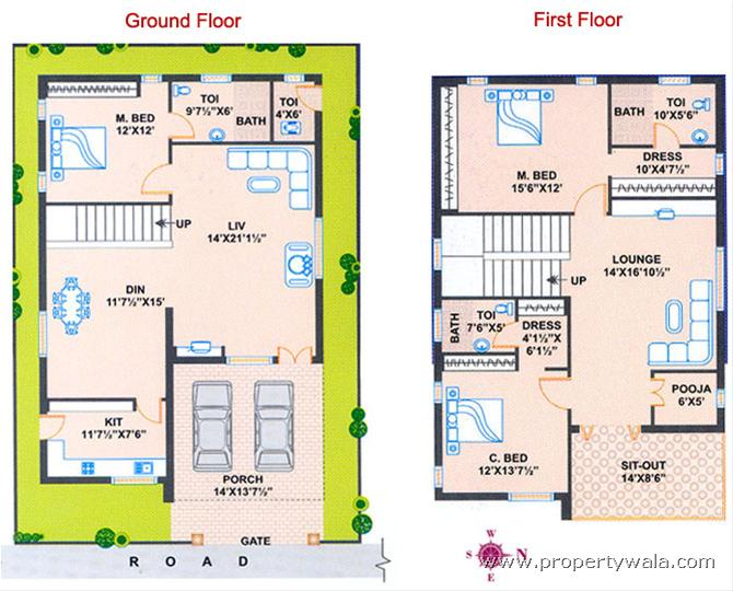 Duplex house floor plans as per vastu for Apartment plans as per vastu