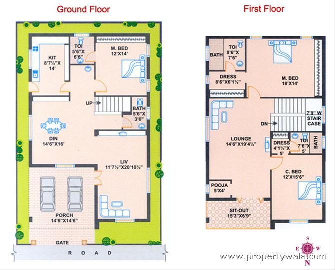 north facing house plans floor plans