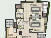 2BHK with Study