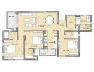 3BHK + SR UNIT PLAN
