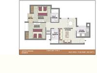 2BHK-Unit-Plan_850 Sq.Ft.  Type-2