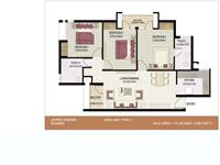 3BHK Unit Plan 1200 Sq. Ft Type 2