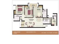 3BHK + Worker 1310 Sq.Ft Type 4