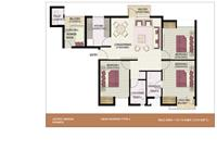 3BHK + Worker 1310 Sq.Ft Type 5