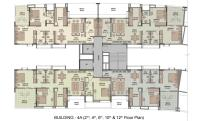 Building 4A Even Floor Plan