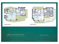 4 BHK Luxury Penthouse Unit Plan