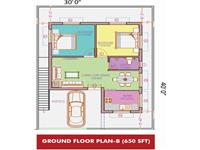 Ground Floor Plan 650 Sq Ft