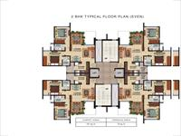 2BHK Floor Plan Even