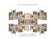 3BHK Floor Plan Even