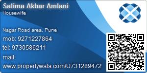 Salima Akbar Amlani - Visiting Card