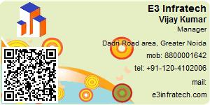 Visiting Card of E3 Infratech Pvt Ltd