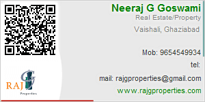 Visiting Card of Raj G Properties