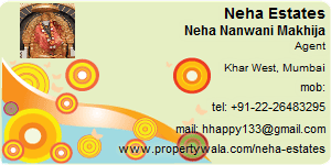 Neha Nanwani Makhija - Visiting Card