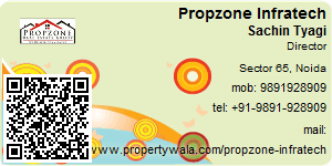 Visiting Card of Propzone Infratech