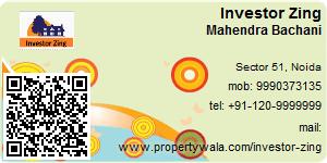 Visiting Card of Investor Zing