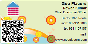Visiting Card of Geo Placers Pvt. Ltd.