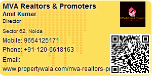 Visiting Card of MVA Realtors & Promoters