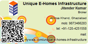 Visiting Card of Unique E-Homes Infrastructure