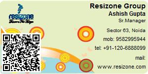 Visiting Card of Resizone Group
