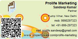 Visiting Card of Prolife Marketing Pvt. Ltd.
