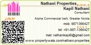 Visiting Card of Patel Property Consultant