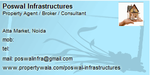 Visiting Card of Poswal Infrastructures