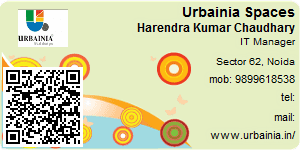 Visiting Card of Urbainia Spaces Pvt Ltd