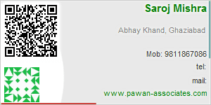 Visiting Card of Pawan Associates