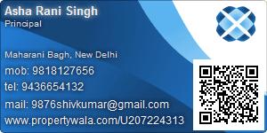 Asha Rani Singh - Visiting Card