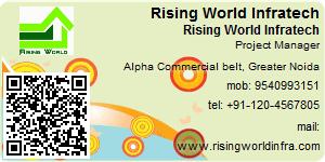 Visiting Card of Rising World Infratech Pvt. Ltd.